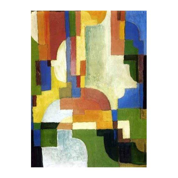 pinturas abstratas - Quadro -Colored forms-1-
