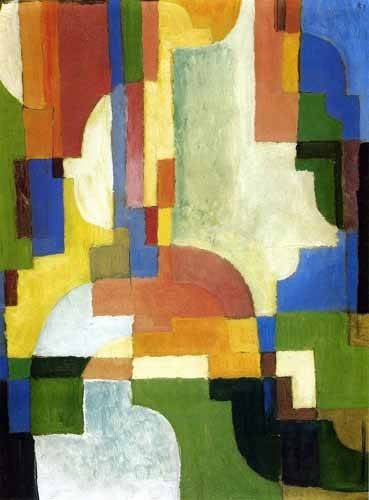 tableaux-abstraits - Tableau -Colored forms-1- - Macke, August