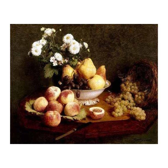 naturezas mortas - Quadro -Flores y frutas-