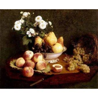 Tableaux nature morte - Tableau -Flores y frutas- - Fantin Latour, Henri