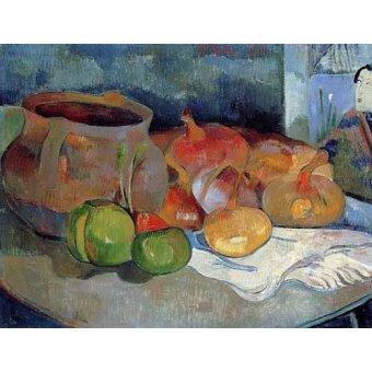 Tableaux nature morte - Tableau -Bodegón con cebollas y remolacha- - Gauguin, Paul