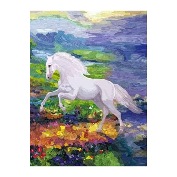 pinturas modernas - Quadro -Moderno CM2458- (caballos)