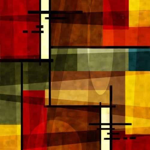 tableaux-abstraits - Tableau -Moderno CM2541- - Medeiros, Celito