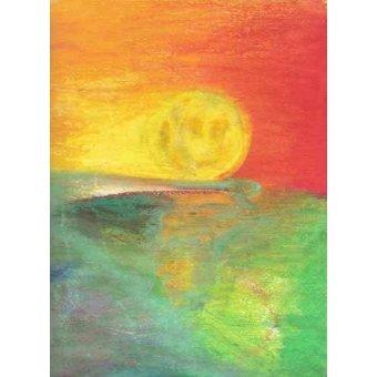 - Tableau -Abstrait Crépuscule _11- - Molsan, E.