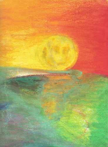 tableaux-abstraits - Tableau -Abstrait Crépuscule _11- - Molsan, E.