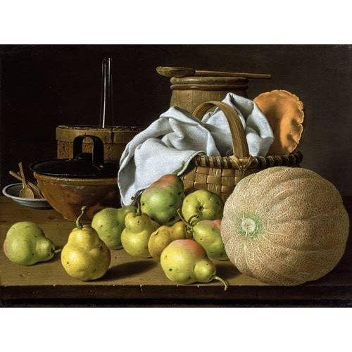 Tableau -Bodegón con melón y peras-