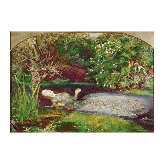 pinturas do retrato - Quadro -Ofelia-