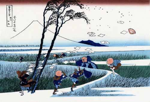 tableaux-orientales - Tableau -Ejiri in the Suruga province- - Hokusai, Katsushika