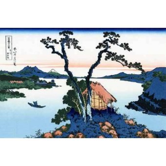 - Tableau -Lake Suwa in the Shinano province- - Hokusai, Katsushika