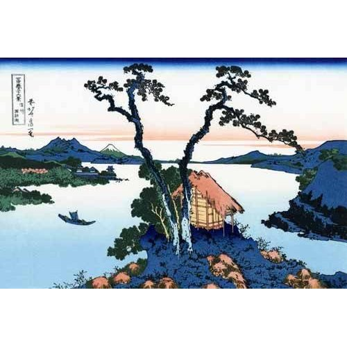 Tableau -Lake Suwa in the Shinano province-