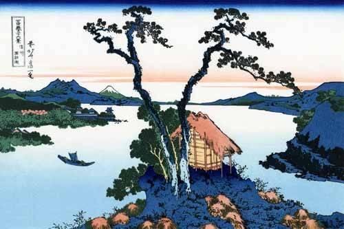 tableaux-orientales - Tableau -Lake Suwa in the Shinano province- - Hokusai, Katsushika