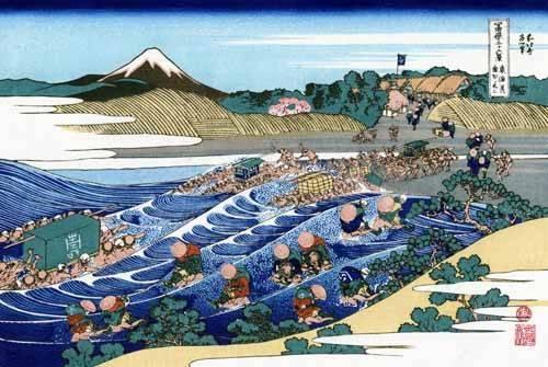 tableaux-orientales - Tableau -The Fuji from Kanaya on the Tokaido- - Hokusai, Katsushika