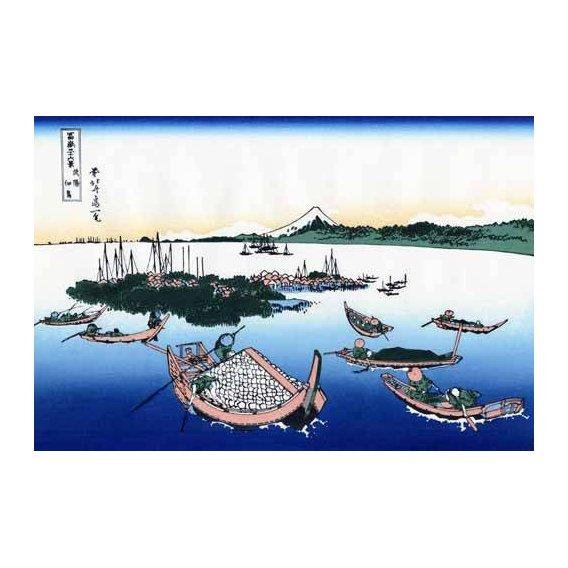 imagens étnicas e leste - Quadro -Tsukada Island in the Musashi province-