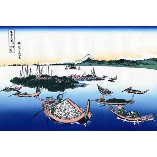 Tableau -Tsukada Island in the Musashi province-