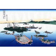 Tableau -Tsukada Island in the Musashi province-