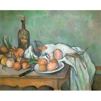Tableaux nature morte - Tableau - Nature morte aux oignons - - Cezanne, Paul