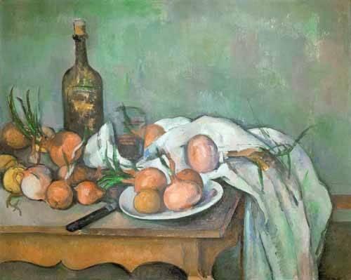 tableaux-nature-morte - Tableau - Nature morte aux oignons - - Cezanne, Paul