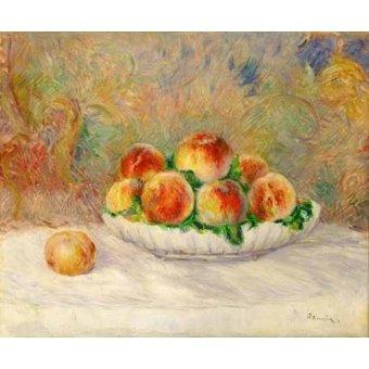 Tableaux nature morte - Tableau -Nature morte aux pêches- - Renoir, Pierre Auguste