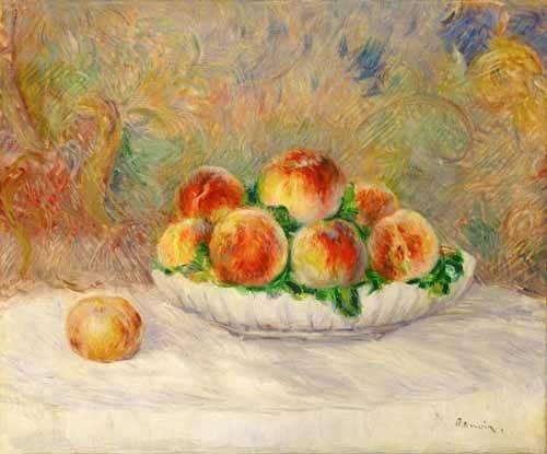 tableaux-nature-morte - Tableau -Nature morte aux pêches- - Renoir, Pierre Auguste