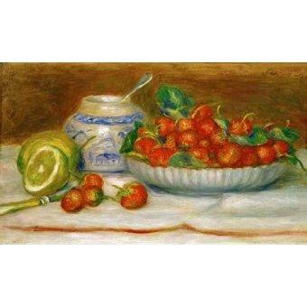 Tableaux nature morte - Tableau -Nature morte aux fraises- - Renoir, Pierre Auguste