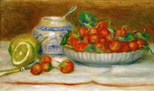 tableaux-nature-morte - Tableau -Nature morte aux fraises- - Renoir, Pierre Auguste