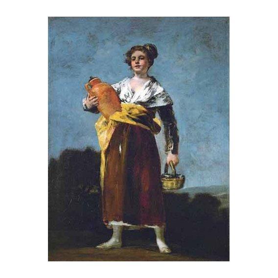 pinturas do retrato - Quadro -La Aguadora-