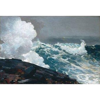 Tableaux de paysages marins - Tableau -Northeaster- - Homer, Winslow