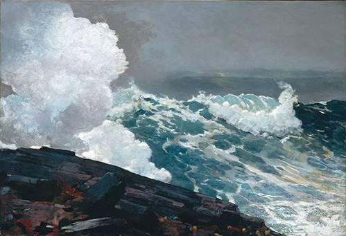 tableaux-de-paysages-marins - Tableau -Northeaster- - Homer, Winslow