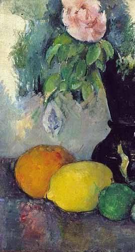 tableaux-nature-morte - Tableau -Fleurs et fruits (1886)- - Cezanne, Paul