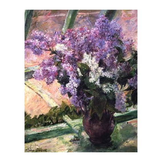 imagens de flores - Quadro -Lilacs in a Window, 1880-
