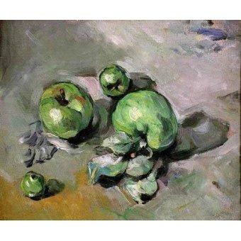 Tableaux nature morte - Tableau - Pommes vertes, (1872-73) - - Cezanne, Paul