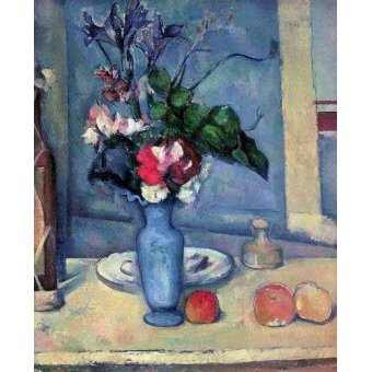 Tableaux nature morte - Tableau - Le vase bleu, (1889-90) - - Cezanne, Paul
