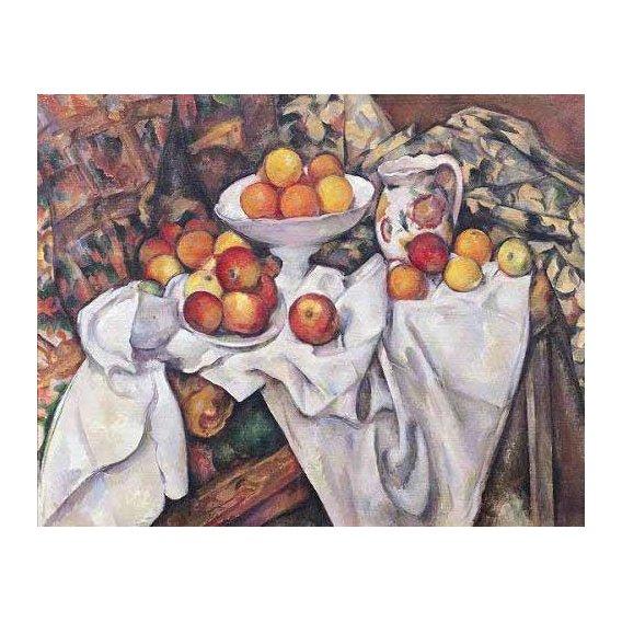 naturezas mortas - Quadro -Manzanas y naranjas(1895-1900)-