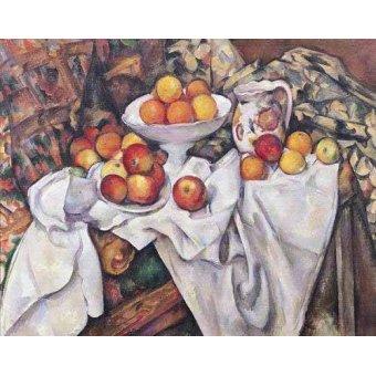 Tableaux nature morte - Tableau - Pommes et oranges, (1895-1900) - - Cezanne, Paul
