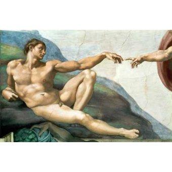 Tableaux religieuses - Tableau -La Creación De Adan- - Buonarroti, Miguel Angel