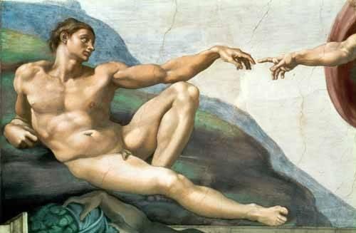 tableaux-religieuses - Tableau -La Creación De Adan- - Buonarroti, Miguel Angel