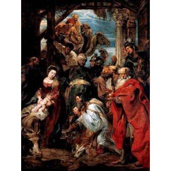 Tableaux religieuses - Tableau -Adoración De Los Reyes Magos- - Rubens, Peter Paulus