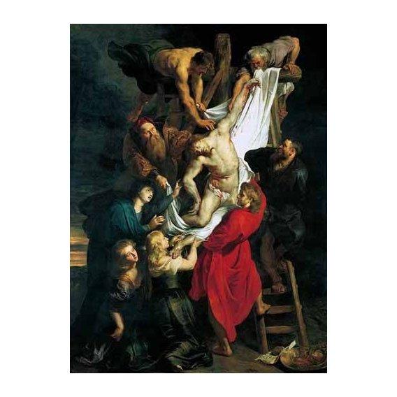 imagens religiosas - Quadro -Triptco. Descendimiento de La Cruz (Panel Central)-