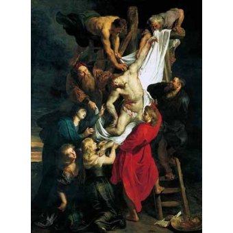 Tableaux religieuses - Tableau -Triptco. Descendimiento de La Cruz (Panel Central)- - Rubens, Peter Paulus