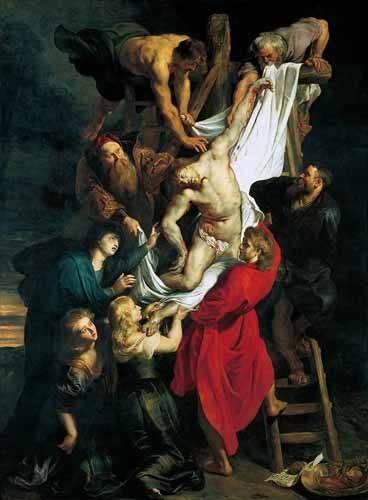 tableaux-religieuses - Tableau -Triptco. Descendimiento de La Cruz (Panel Central)- - Rubens, Peter Paulus