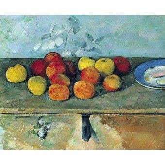 Tableaux nature morte - Tableau -Bodegón con manzanas y galletas(1880-82)- - Cezanne, Paul
