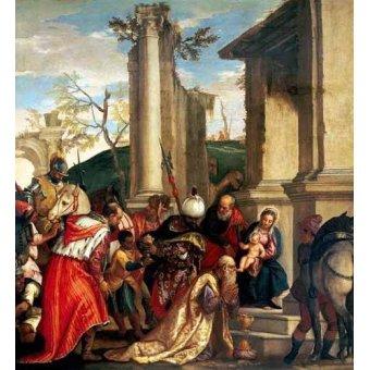 Tableaux religieuses - Tableau -Adoración De Los Reyes Magos- - Veronese, Paolo
