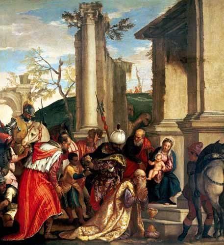 tableaux-religieuses - Tableau -Adoración De Los Reyes Magos- - Veronese, Paolo