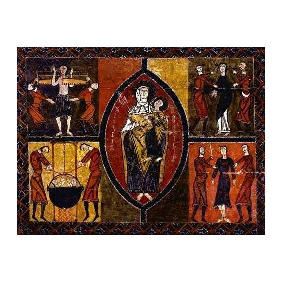 imagens religiosas - Quadro -Martirio de Santos Quirce y Julita (San Quirce de Durro)-