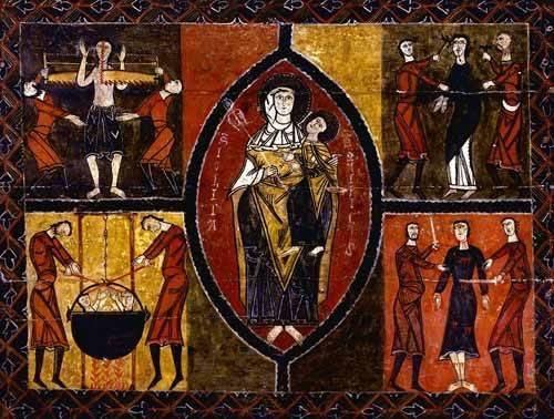 tableaux-religieuses - Tableau -Martirio de Santos Quirce y Julita (San Quirce de Durro)- - _Anónimo Español