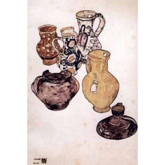 Tableaux nature morte - Tableau -Alfareria- - Schiele, Egon