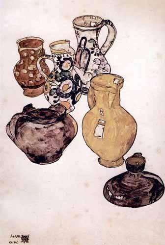tableaux-nature-morte - Tableau -Alfareria- - Schiele, Egon