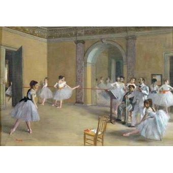 Tableaux de Personnages - Tableau -Le foyer de danse à l'opéra- - Degas, Edgar