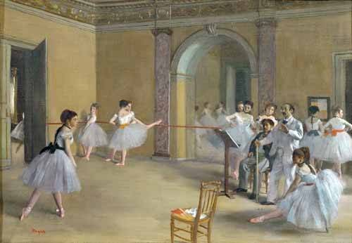 tableaux-de-personnages - Tableau -Le foyer de danse à l'opéra- - Degas, Edgar