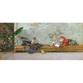Tableaux de Personnages - Tableau -Los hijos del pintor en el salón japones- - Fortuny y Marsal, Mariano
